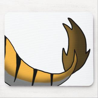 Orange Tiger/Dragon Hybrid Tail Mouse Pad
