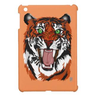 orange tiger iPad mini case
