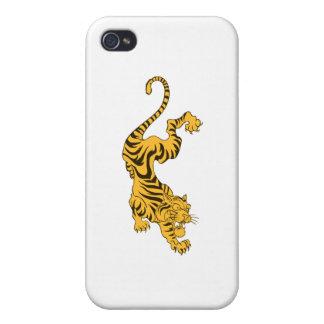 Orange Tiger iPhone 4 Cover