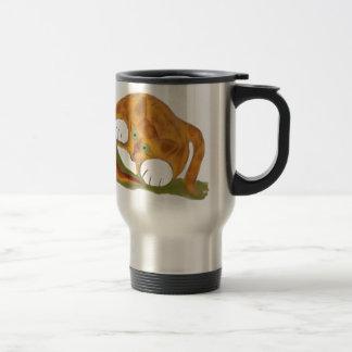 Orange Tiger Kitten and a Pacific NW Slug 15 Oz Stainless Steel Travel Mug