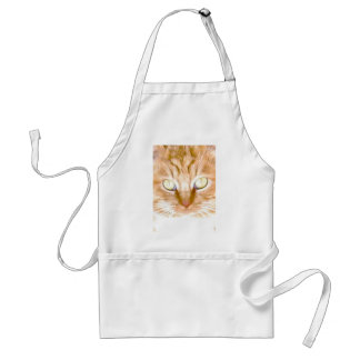 Orange Tiger Kitty Adult Apron