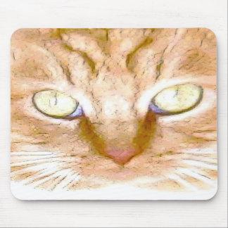 Orange Tiger Kitty Mousepad