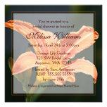 Orange Tiger Lily Bridal Shower Invitations