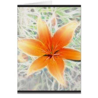 Orange Tiger Lily card