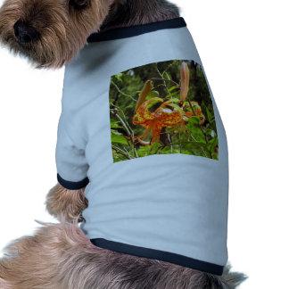 Orange Tiger Lily Pet Clothes