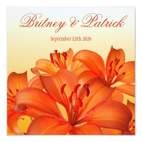 Orange Tiger Lily - Lilies Wedding Invitations