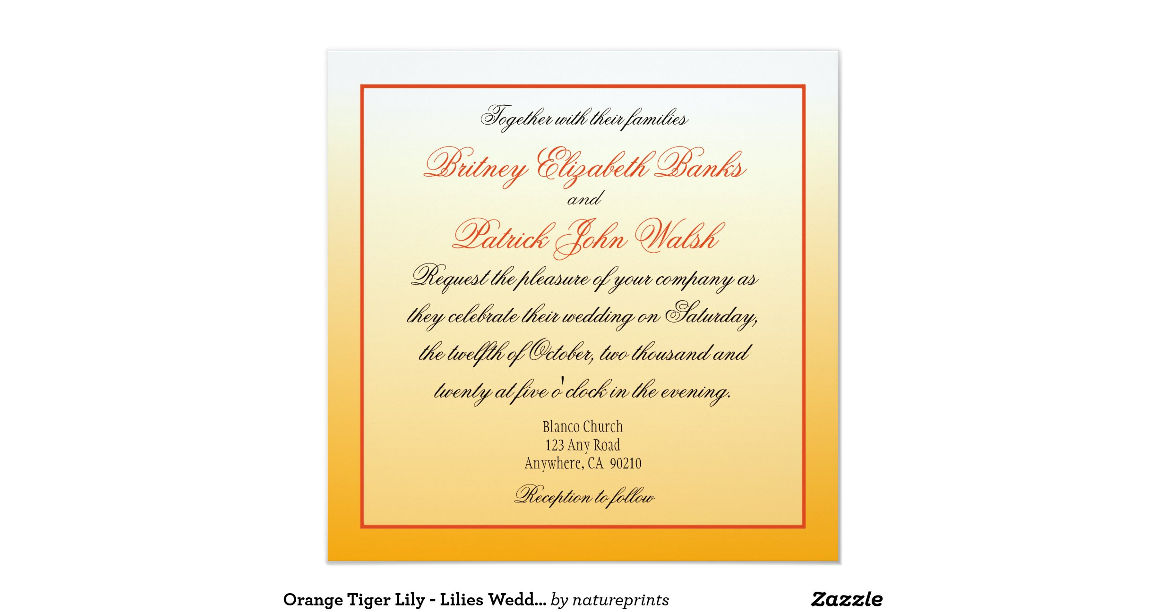 tiger wedding invitations ideas - 28 images - vintage tiger lilies ...