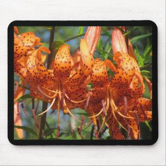 Orange Tiger Lily Mouse Pad