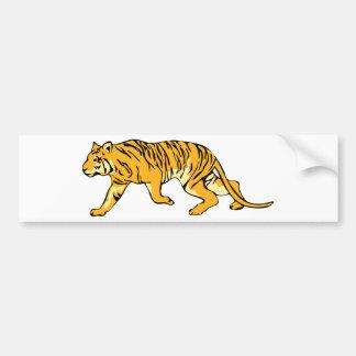 Orange Tiger on the Prowl Bumper Sticker