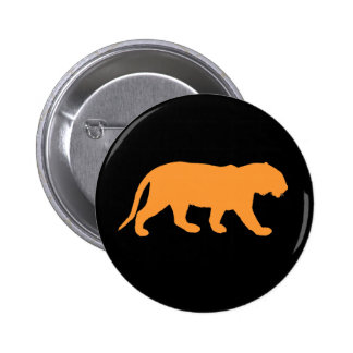 Orange Tiger Pinback Button