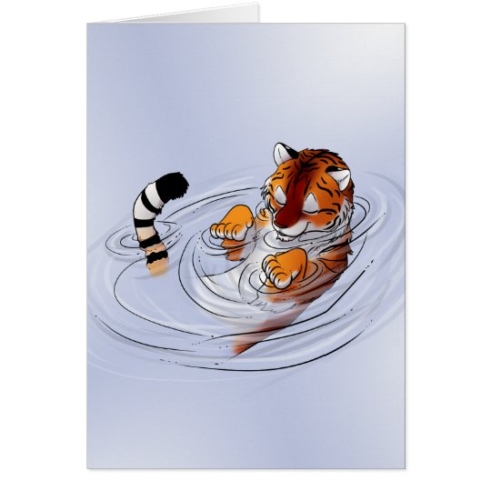Orange Tiger Serenity Card