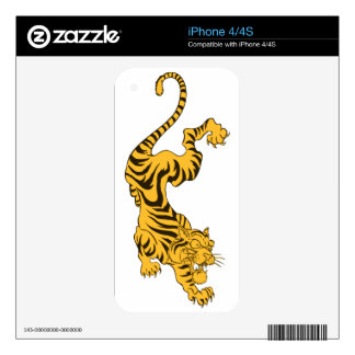 Orange Tiger Skin For The iPhone 4