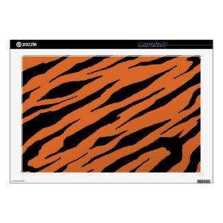 """Orange Tiger Strip Laptop Vinyl Skins Skin For 17"""" Laptop"""