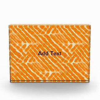 Orange Tiger Stripes Canvas Look Award