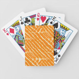 Orange Tiger Stripes Canvas Look Bicycle Playing Cards