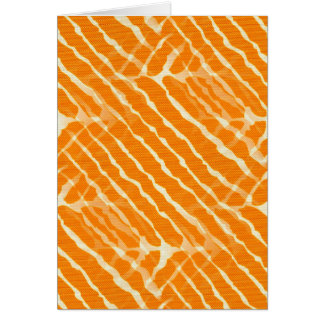 Orange Tiger Stripes Canvas Look Greeting Card