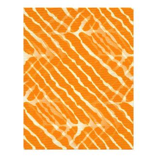 Orange Tiger Stripes Canvas Look Letterhead