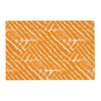 Orange Tiger Stripes Canvas Look Placemat