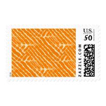 Orange Tiger Stripes Canvas Look Postage