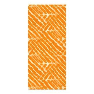Orange Tiger Stripes Canvas Look Rack Card