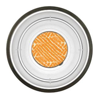 Orange Tiger Stripes Canvas Look Pet Bowl