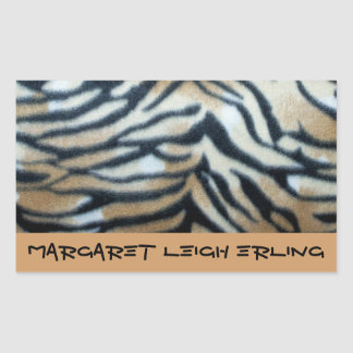 Orange Tiger StripeThis Book Belongs to Sticker