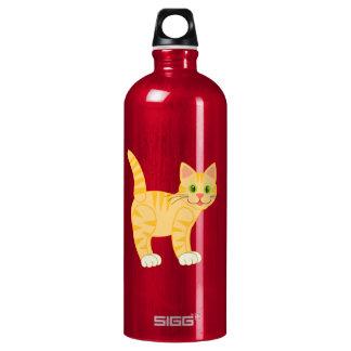 Orange Tiger Tabby Cat Water Bottle