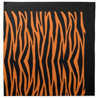 Orange Tiger / Zebra Stripes Napkins (Cloth)
