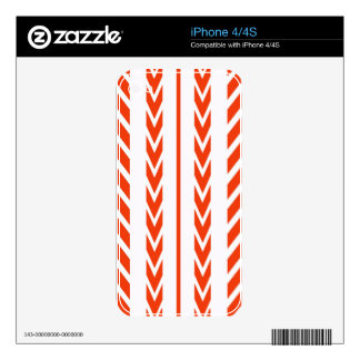 Orange Tire Tread Skins For The iPhone 4S