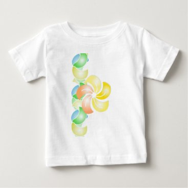 Beach Themed orange to flower rectangle .gif baby T-Shirt