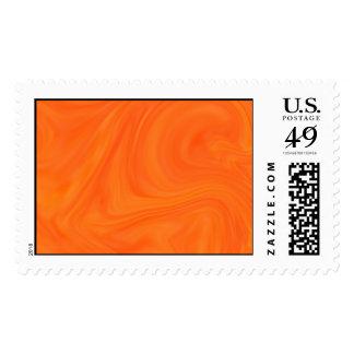Orange Tonal Abstract Swirled Background Stamp