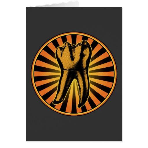 Orange Tooth Graphic Emblem Card