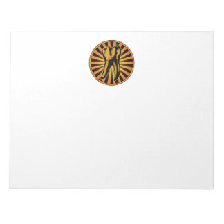 Orange Tooth Graphic Emblem Notepad
