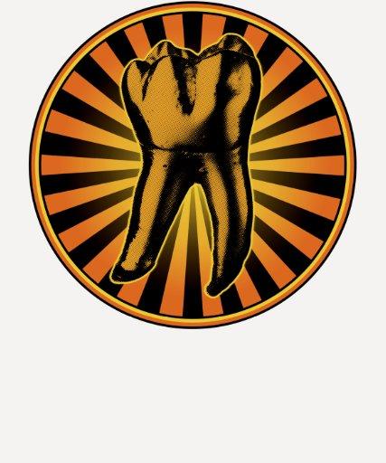 Orange Tooth Graphic Emblem Tshirt