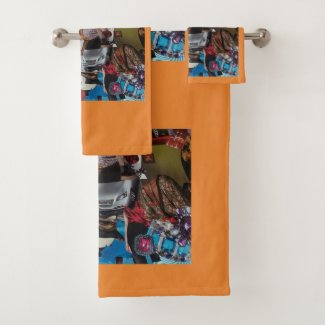 Orange Towel Set