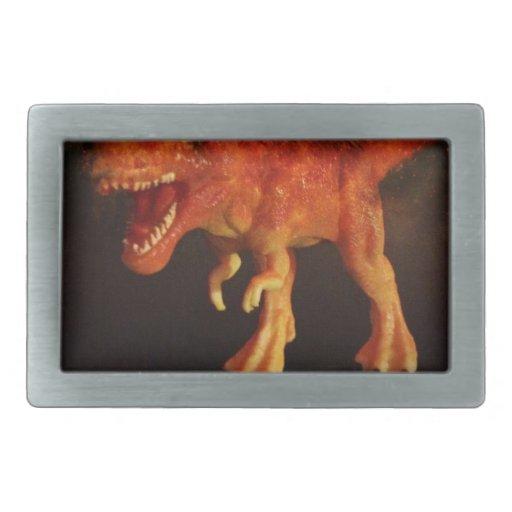 Orange Toy T-Rex Dinosaur in Space Belt Buckles