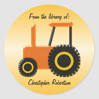 Orange Tractor Bookplate
