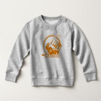Orange Tractor Farm Machinery Sweatshirt
