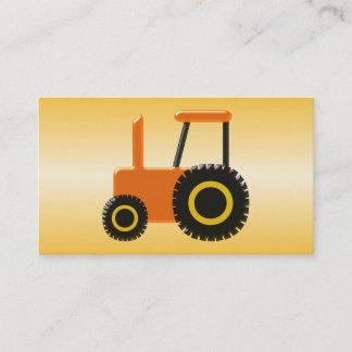 Orange Tractor Farmer Business Card