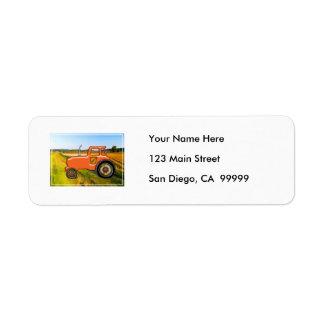 Orange Tractor  in the Fields Label