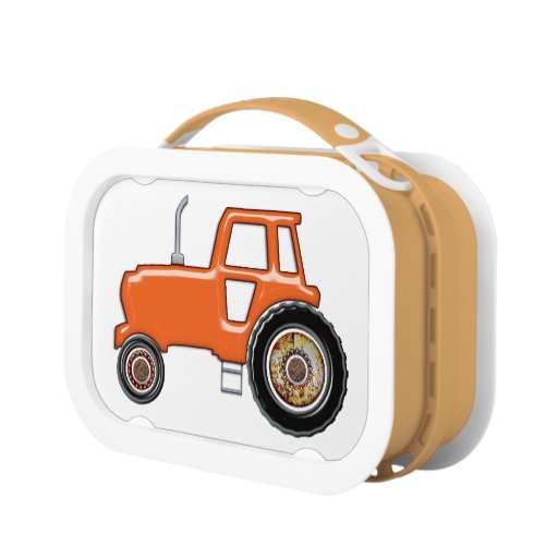 Orange Tractor Lunch Boxes Zazzle