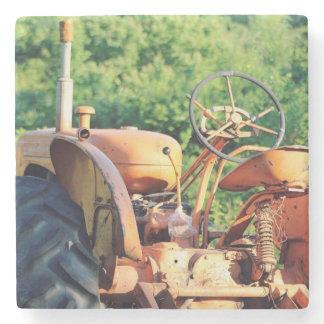Orange Tractor Stone Coaster