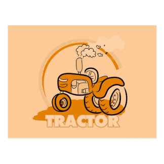 Orange Tractor Tshirts and Gifts Postcard