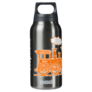 Orange train kids full name drinks bottle 10 oz insulated SIGG thermos water bottle