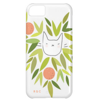 Orange Tree Cat Case For iPhone 5C
