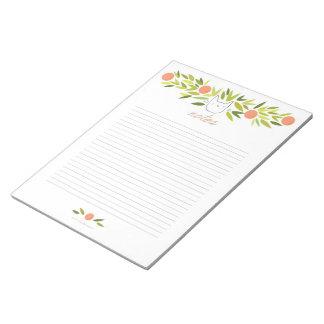 Orange Tree Cat XL Notepad