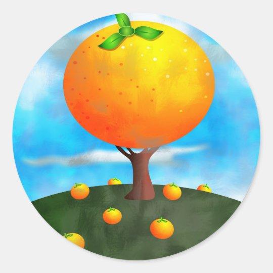 Orange Tree Classic Round Sticker