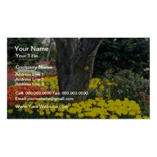 Orange Tree cluster flowers Business Card Template