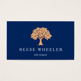 Orange Tree Logo Life Coach Health and Wellness Business Card