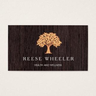 Orange Tree Logo Lifestyle Coach Holistic Health Business Card